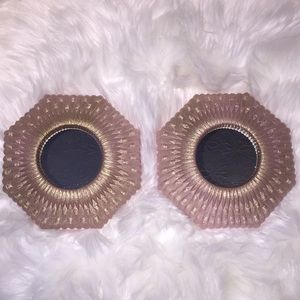 Vintage set of 2 HOMCO mirrors painted rose gold